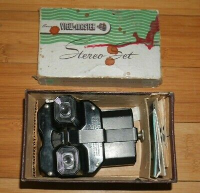 Viewmaster Stereo Set Model C Viewer Light Attachment & Circus Reels  D449 • 39.95£