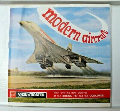 The Modern Aircraft 1969 Viewmaster Reels Set B672 Rare   D546 • 14.95£