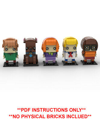Scooby Doo Gang Custom Lego Brickheadz - MOC - PDF INSTRUCTIONS ONLY - NO BRICKS • 11£