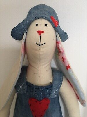 Hand Made Vintage Tilda Bunny Present Boy Or Girl Special Easter Or Occasion • 19.99£