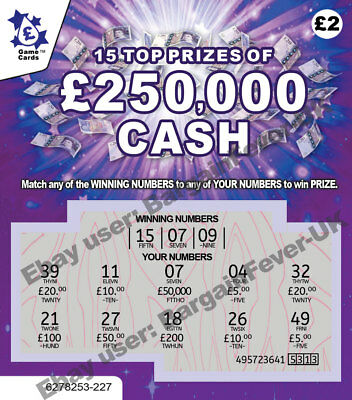 WARNING-VERY REALISTIC FAKE Joke Lottery Scratchcards Scratch Cards FUNNY PRANK • 3.97£