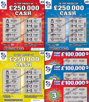 Put One In A Birthday Card FAKE JOKE LOTTERY SCRATCH CARDS SCRATCHCARD TICKETS • 7.95£