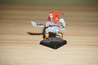 Warhammer Mordheim Frenzied Mob Villager Hood & Halberd Townsfolk Painted • 16.79£