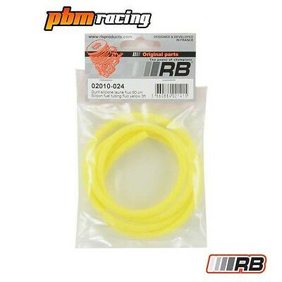 RB RC Nitro Silicone Fuel Tubing Fluo Yellow - RB-02010-024 • 3.99£