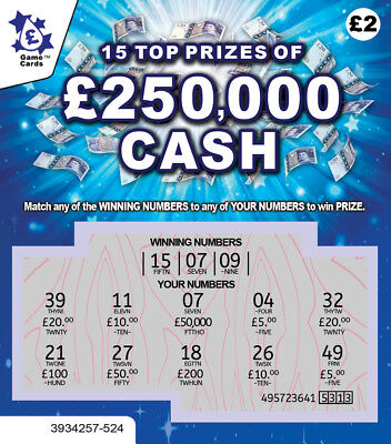 FAKE JOKE LOTTERY SCRATCH CARDS SCRATCHCARD TICKETS - Put One In A Birthday Card • 3.97£