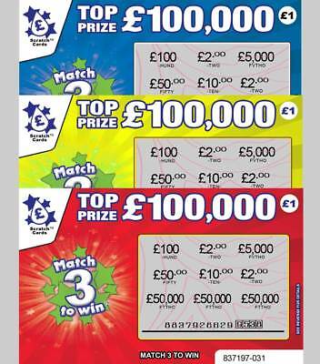 - Warning - Extremely Realistic - Fake Joke Scratch Card Scratchcards Prank Lol • 3.97£
