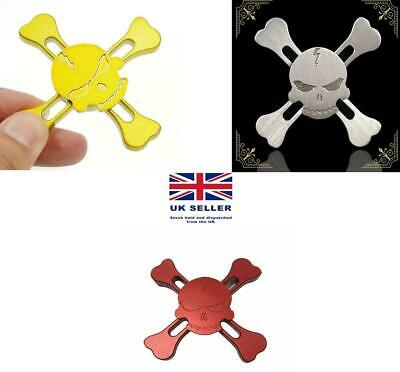 PACK OF 3 Hand Finger Fidget Spinner Skull Toy Funny Stress Relief • 4.49£