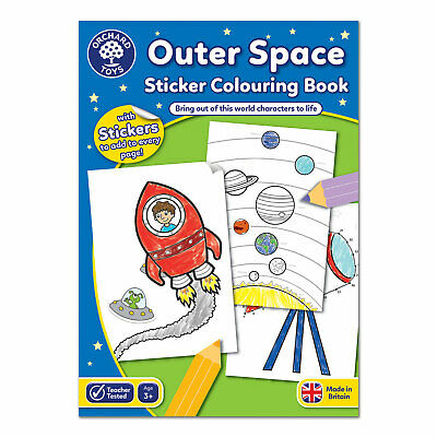 Orchard Toys Outer Space Sticker Colouring Book • 3.68£