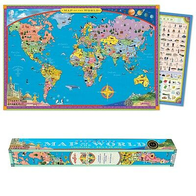 Eeboo Laminated World Map • 16.99£