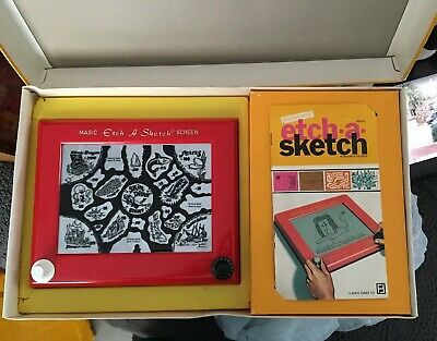 VINTAGE ETCH-A-SKETCH 1970 DENYS FISHER BOXED MANUAL One Plastic Game Insert • 29.99£