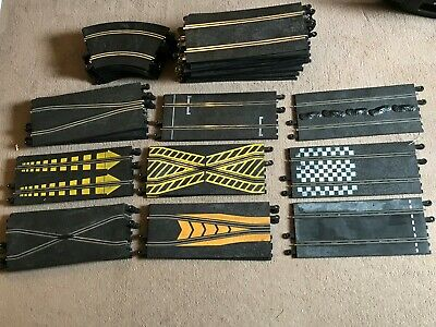 48 PIECE VINTAGE HORNBY SCALEXTRIC TRACK BUNDLE Crossovers Painted Grid Position • 37.99£