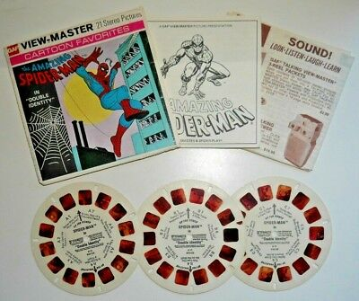 The Amazing Spiderman Double Identity Viewmaster Reels Marvel 1977 Set H11  D058 • 17.95£