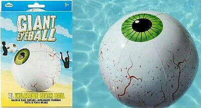 X 2 NPW Giant Inflatable Extra Large Beach Ball Eye Ball • 7.89£