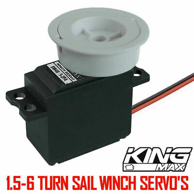 Sail Winch Servo 1.5-6 Turns 5-12kg High Torque Metal Gear For RC Boats  • 13.99£