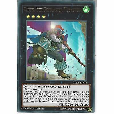 DUDE-EN018 Castel, The Skyblaster Musketeer | 1st Edition | Ultra Rare | YuGiOh • 0.99£