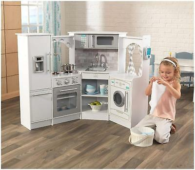 Kidkraft Ultimate Corner Play Kitchen With Sounds And Lights - White Version • 204.99£