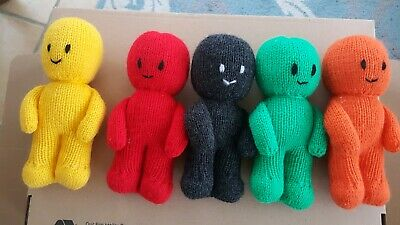 Lovely Soft Toy Set Of Handknitted Jelly Babies • 20£