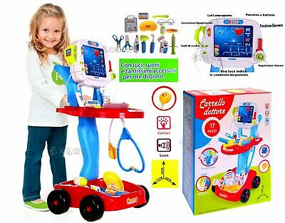 Doctor Bag Set Cart With Tools And Display Working Lights & Sounds • 38.26£