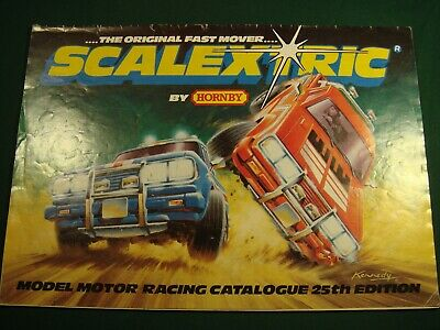 Scalextric  Electric Model Racing 25th Edition Catalogue 1983 . • 8£