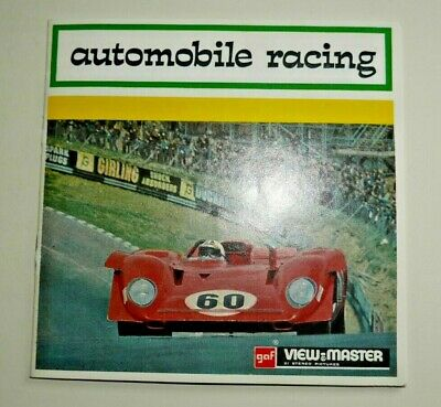 Automobile Racing Viewmaster Reels 1971 Set D112 Rare    F972 • 22.95£