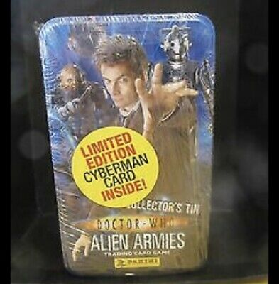 Doctor Who Alien Armies Trading Card Tin B : David Tennant • 12.99£