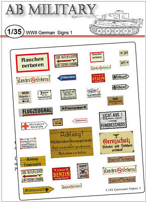 1/35 Scale WWII German Signs 1 • 3.99£