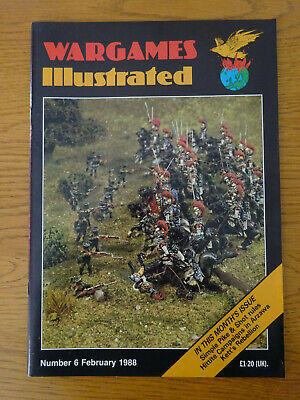 Wargames Illustrated Magazine, Number #6, February 1988, Good Preowned Condition • 4£