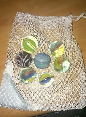 Vintage Glass Marbles X 7  • 6£