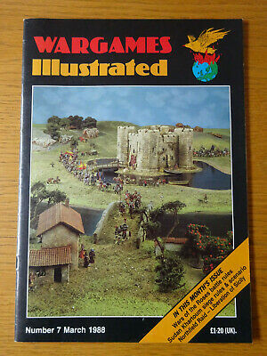 Wargames Illustrated Magazine, Number #7, March 1988, Good Preowned Condition • 4£