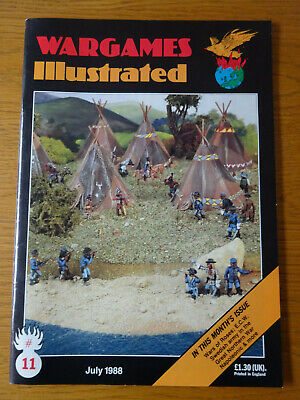 Wargames Illustrated Magazine, Number #11, July 1988, Good Preowned Condition • 4£