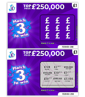 World's Most Realistic - Fake Joke Lottery Scratch Cards Scratchcard Tickets • 2.49£