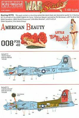 Kits-World Decals 1/48 Boeing B-17G Flying Fortress # 48001 • 9.92£