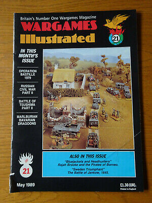 Wargames Illustrated Magazine, Number #21, May 1989, Good Preowned Condition • 4£
