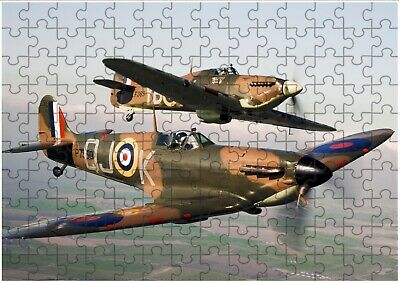Spitfire RAF A4 JIGSAW Puzzle Birthday Christmas Gift (Can Be Personalised) • 6.99£