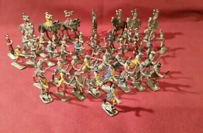 Assorted Vintage Lead Military Figures X47 • 35£
