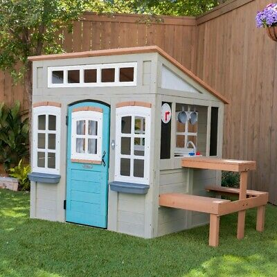 Kidkraft Preston Playhouse | Kids Wooden Play House | Outdoor Play House • 450£