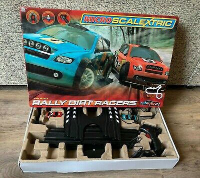 Official Micro Scalextric Rally Dirt Racers- Complete- Tested & Working- 1:64 • 19.99£