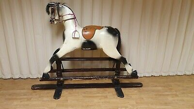 Traditional Style Large Vintage Wooden Rocking Horse • 650£