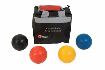 Uber Set Of 4 Croquet Balls (12oz Composition - 1st Colours) • 70.99£