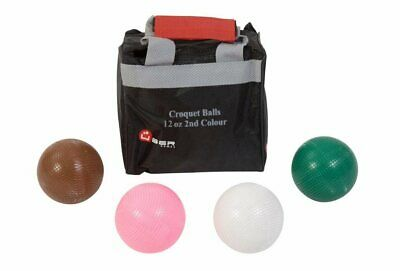 Uber Set Of 4 Croquet Balls (12oz Composition - 2nd Colours) • 70.99£