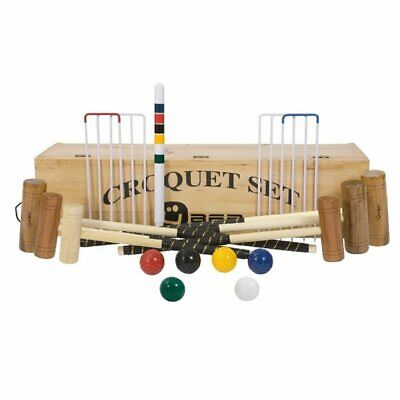 Uber 6 Player Pro Croquet Set In A Wooden Box • 339.90£