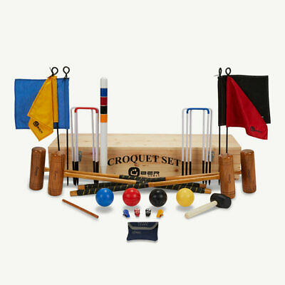 Uber Pro Croquet Set In A Wooden Box • 256.99£