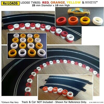 LOOSE TYRES / TIRES For Scalextric, AFX & Hot Wheels Track Crash Barriers, Walls • 36.95£