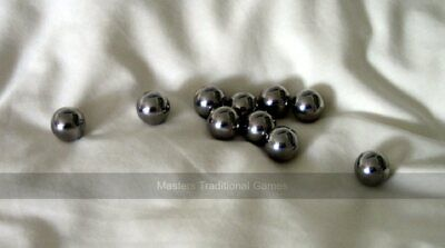 Set 10 Stainless Steel Parlour Bagatelle Balls (9/16 Inch) • 11£