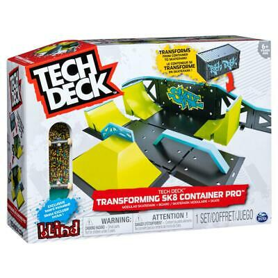 Tech Deck Transforming SK8 Container Deluxe 2.0 Fingerboard Skate Park Ramps • 29.99£