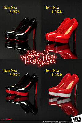 MCToys High Heel Shoes For 1/6 Phicen TBLeague Verycool Female Figures (UK Stock • 9.99£