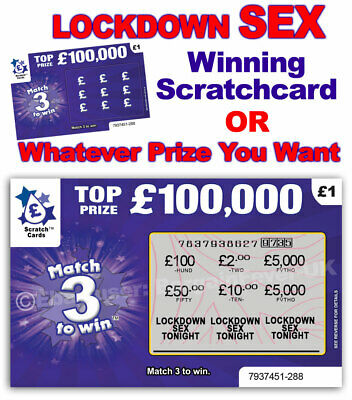 Lockdown Sex Isolation Scratch Card Scratchcard Birthday Card Gift Adult Game • 3.99£