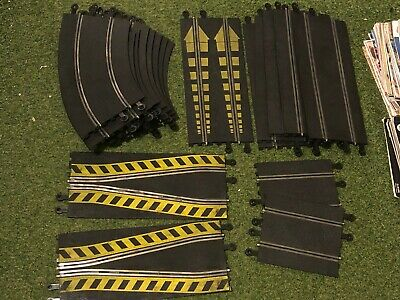 18 PIECE VINTAGE HORNBY SCALEXTRIC TRACK BUNDLE Banking Curves Shunts Straights+ • 19.99£