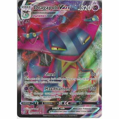 Pokemon 093/192 Dragapult VMAX | Rare Ultra Full Art Sword & Shield Rebel Clash • 7.95£