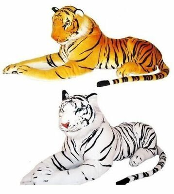 Large 120cm Giant Brown/White Tiger Soft Plush Stuffed Animal Cuddly Toy Teddy • 34.89£